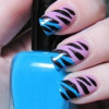 Animal Print in turquoise and black