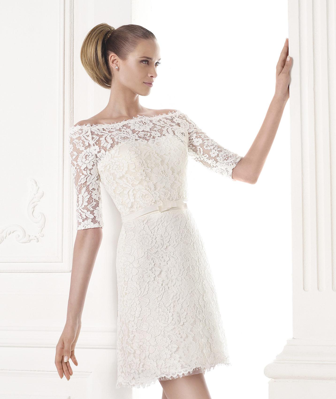 291e8669949d6 Vestidos de novia cortos 2016 - esBelleza.com