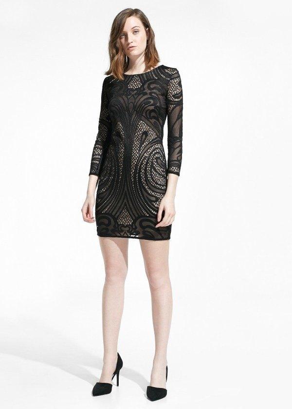 vestidos-de-noche-2015-vestido-corto-negro-mango