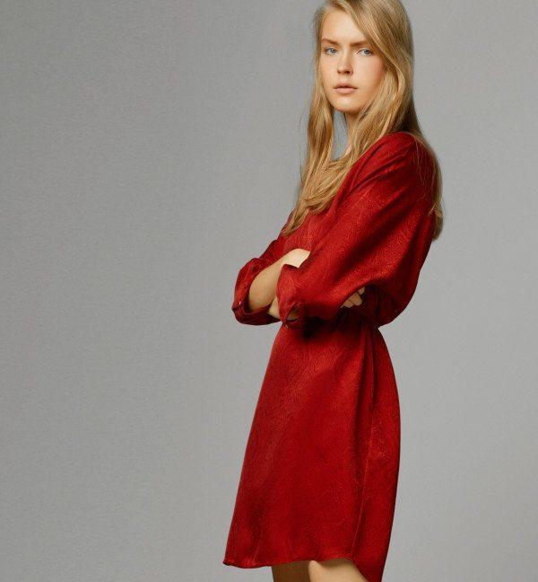 vestidos-de-noche-2015-vestido-corto-rojo-massimo-dutti