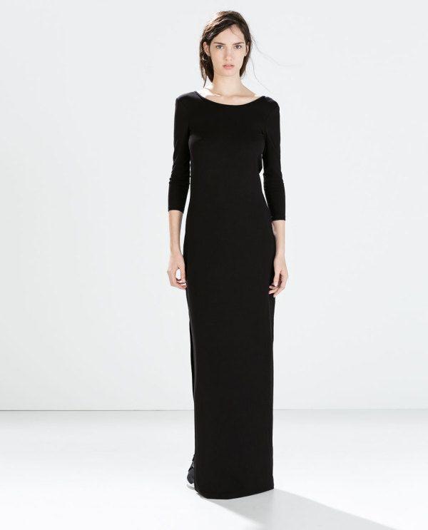 vestidos-de-noche-2015-vestido-negro-largo-de-zara