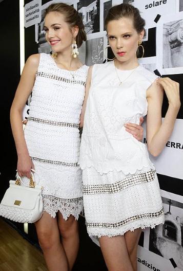 blanco vestidos