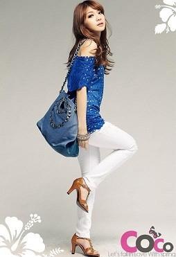 32026-Blue-Fashion-Korean-Two-piece-Sleeve-Blouses-1