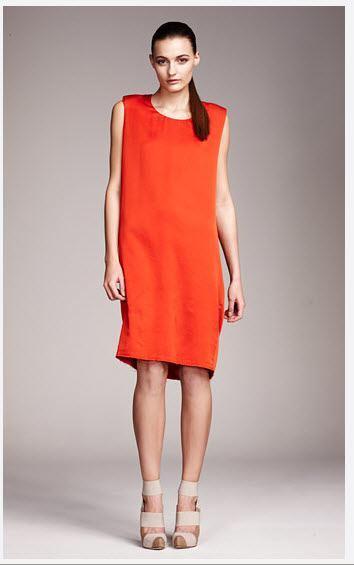 fashion-acne-orange-dress