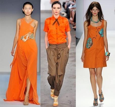 que color combina naranja