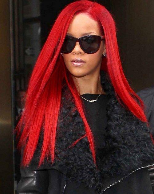 rihanna-long-red-extensions