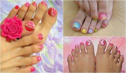 Otras ideas para la decoración de uñas de pies 2015