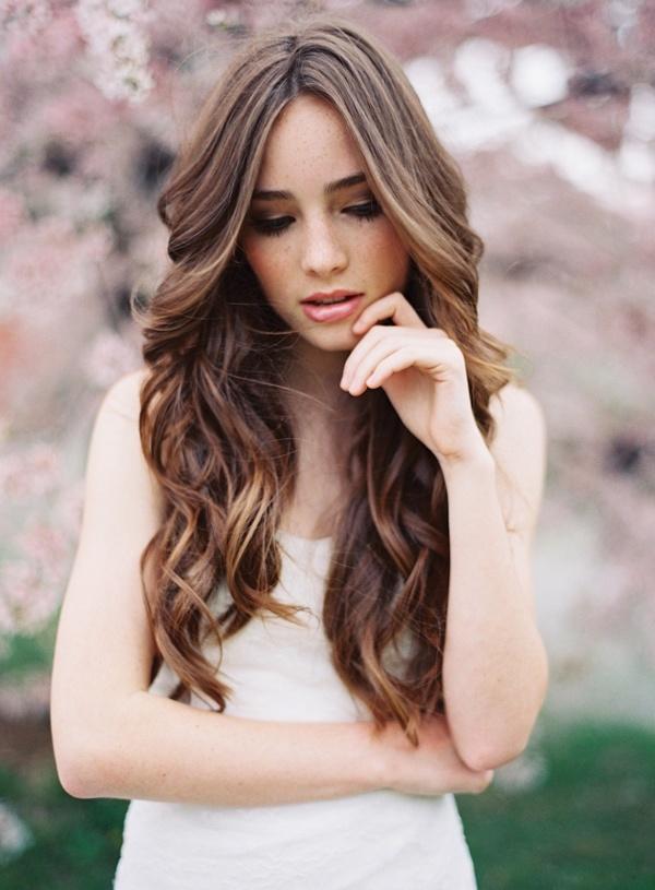 Peinados Novia Pelo Suelto Rizado Flores With Peinados Novia Pelo