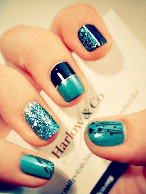 Mezcla decoracion uñas