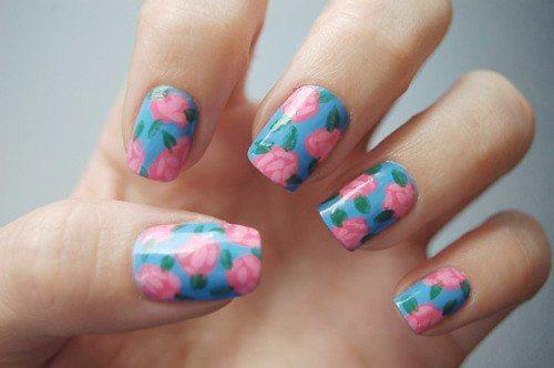 decoracion-de-unas-primavera-verano-2014-estampados-uñas-de-flores