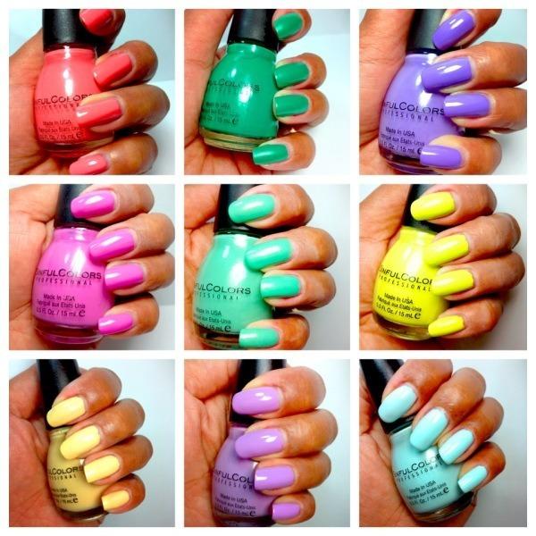 tendencias-uñas-noche-de-verano-2014-colores-variados-marca-sinful