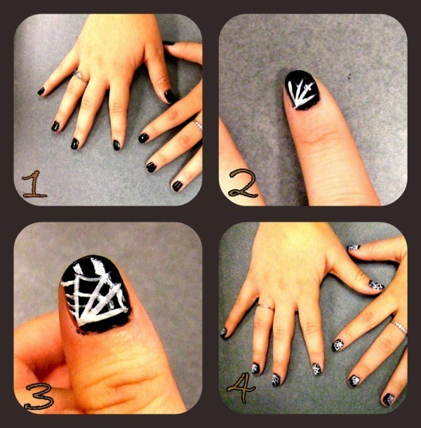 Pasos-para-una-decoración-de-uñas-para-Halloween-2014-uñas-de-telaraña