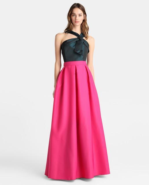 vestido-de-noche-largo-primavera-verano-bicolor-rosa-top-negro-elcorteingles.