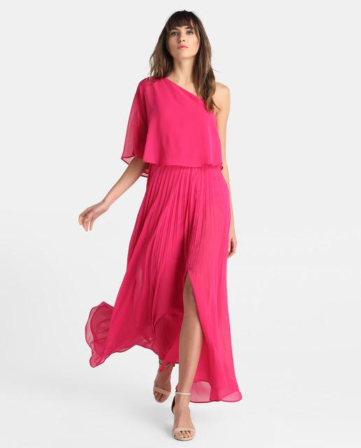vestidos-de-noche-primavera-verano-bodas-fuscia-abertura-falda-elcorteingles