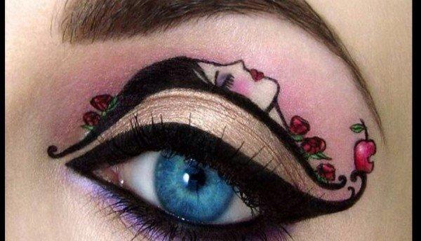 maquillaje-para-carnaval-2016-maquillaje-de-un-ojo-muy-elaborado