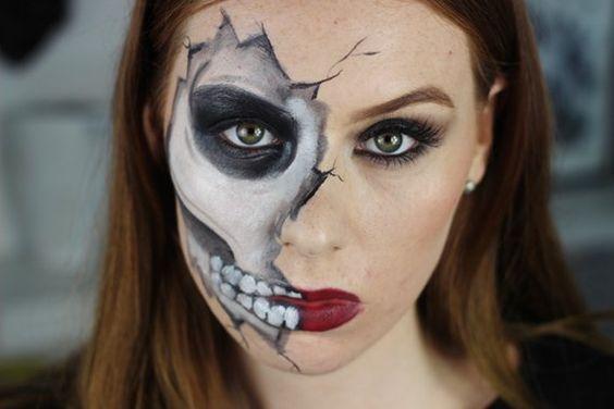 M s de 195 fotos de maquillaje de halloween for Caras pintadas para halloween