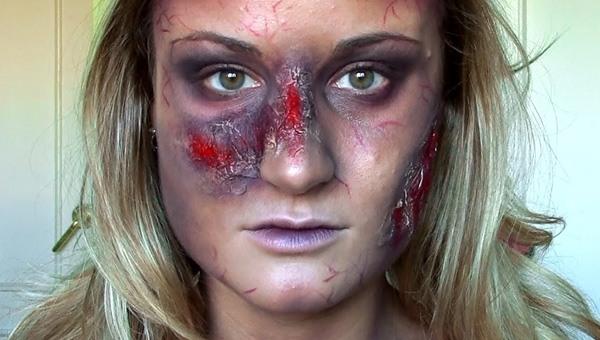 maquillaje-halloween-zombie-rubia