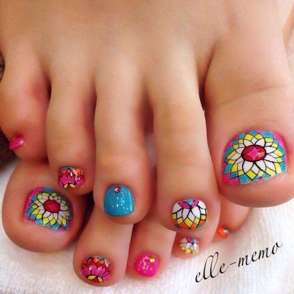 estilos-de-unas-para-2016-multicolor