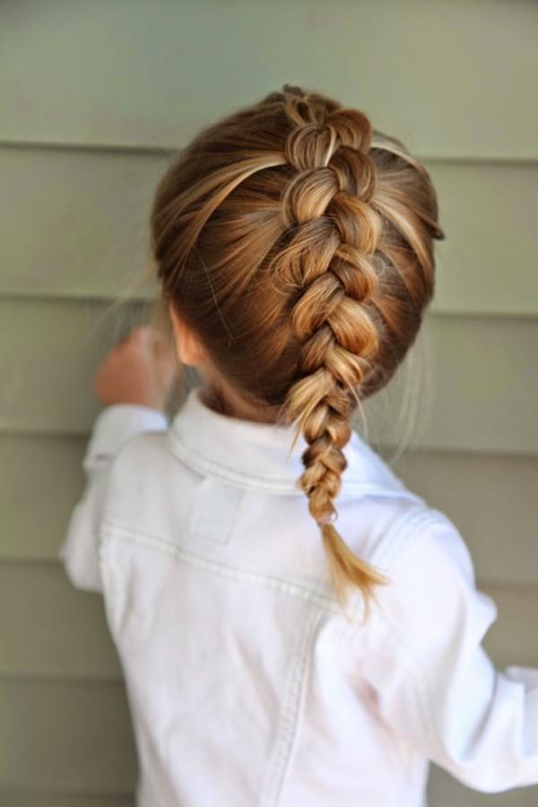 Buscar Peinados Para Nias Peinados Para Nia Con Trenza Corazn - Peinados-de-nia