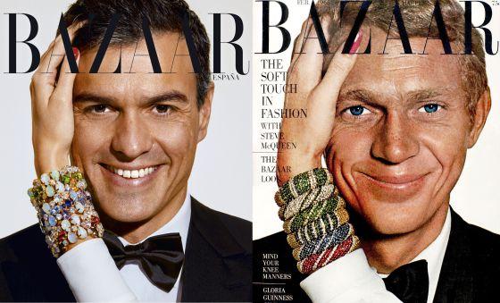 looks-de-pedro-sanchez-portada-en-harpers-bazaar-con-Steve-McQueen