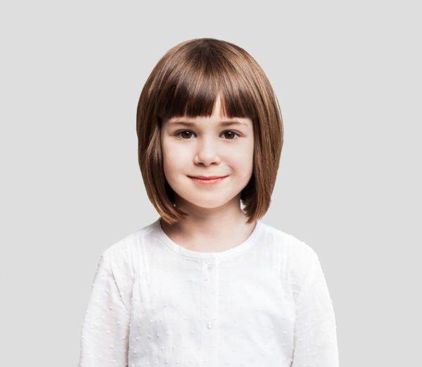 Peinados para ninas con el pelo corto y flequillo