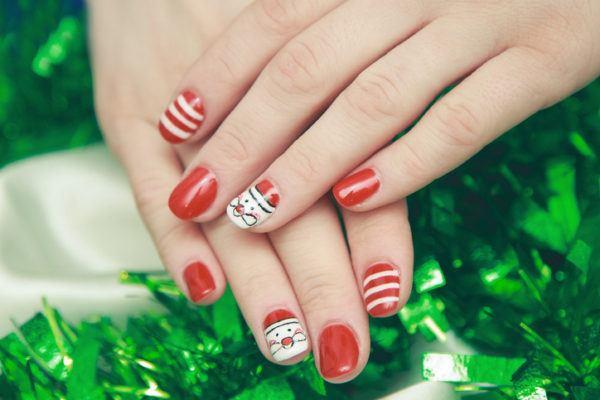 Unas navidenas rojas y blancas
