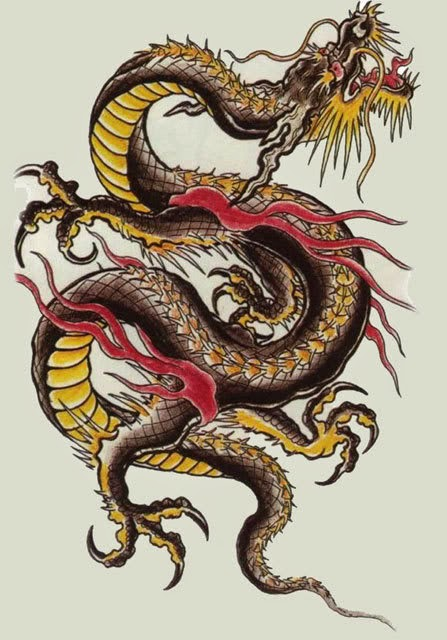 tatuajes-de-dragones-amarillo-dorado