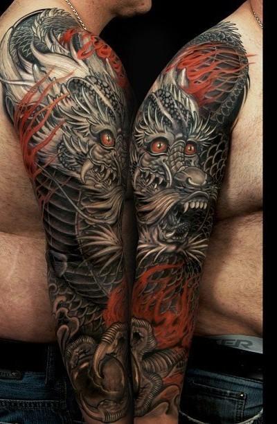 tatuajes-japoneses-dragon-brazo