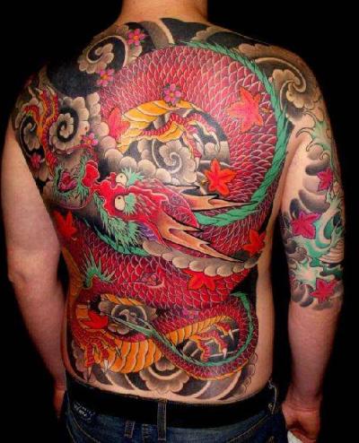 tatuajes-japoneses-dragon-rojo