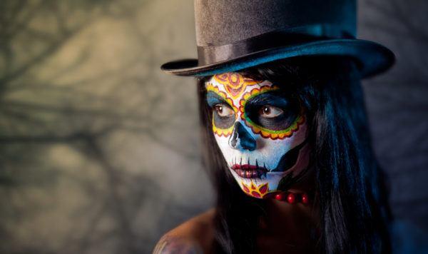 Pintura para cara cuerpo colores y fotos con sombrero de copa