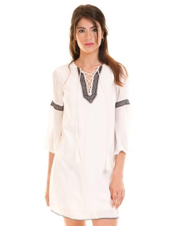 Los Vestidos Ibicencos Para Primavera Verano 2018 Esbellezacom - Vestido-blanco-largo-ibicenco