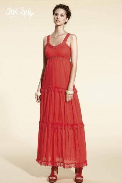 Vestido ibicenco rojo