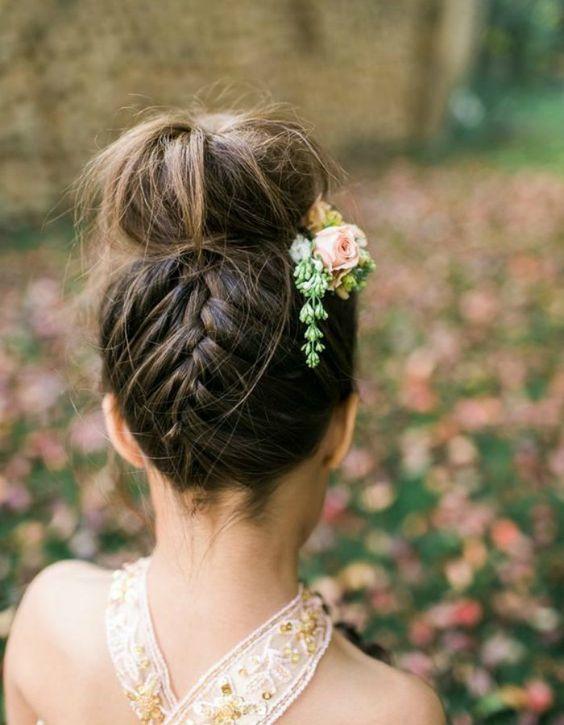 Peinados para primera comunion con pelo suelto