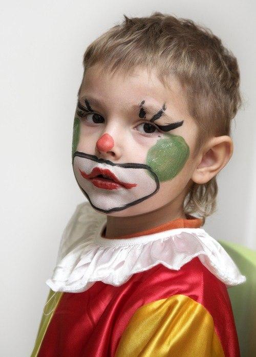 Maquillaje para carnaval y halloween 2018 originales para niños payaso